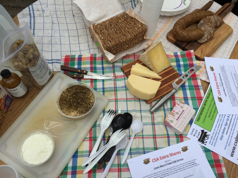 food display on table