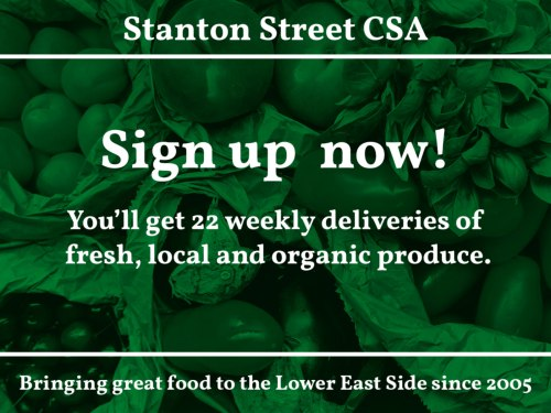 Sign up now! You'll get 22 weekly deliveries of fresh, local and organic produce.